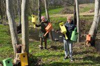 Skolas apkārtni rotā koši putnu būrīši