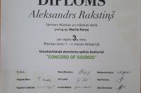 """SMMS audzēkņu dalība starptautiskajā akordeonistu konkursā """"Concord of Sounds"""""""